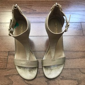 Kenneth Cole Champagne Gold Wedge Heel Size 8